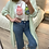 Thumbnail: Vestido/camisa com bolso verde
