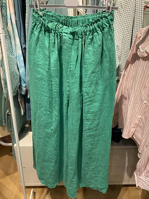 Calça pantalona linho verde