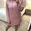 Thumbnail: Vestido canelado capuz rosa