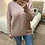 Thumbnail: Camisola ampla decote V rosa