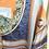Thumbnail: Camisa de cetim estampa azul
