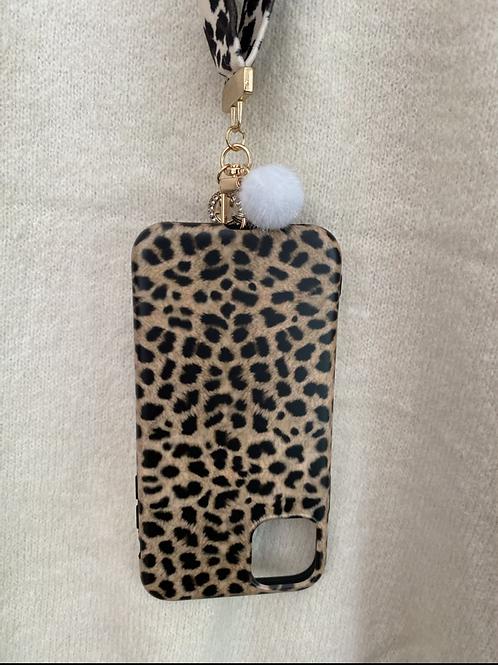 "Capa de telemóvel Iphone XR/10/11 6,1"" animal print"