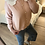 Thumbnail: Cardigan de malha com gola bordada rosa