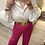 Thumbnail: Blusa oversize florzinhas rosa c/renda