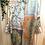 Thumbnail: Túnica/vestido cetim estampa azul