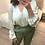 Thumbnail: Blusa verde padrão leopardo