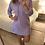Thumbnail: Vestido canelado capuz lilas