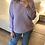 Thumbnail: Camisola de malha estrela relevo lilás