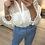 Thumbnail: Blusa bordada folhos pérola