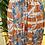 Thumbnail: Saia comprida estampa laranja/azul