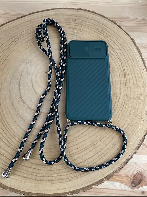 """Capa de telemóvel Iphone XR/10/11 6,1"""" proteção câmera verde"""