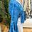 Thumbnail: Blusa bolero seda turquesa