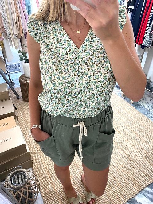 Blusa verde brilhos