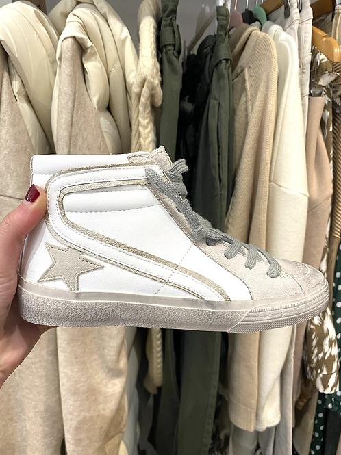 Sapatilha bota estrela branco
