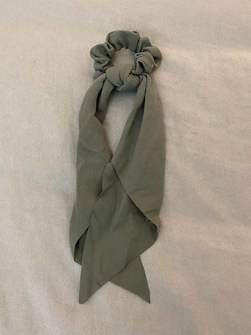 Lenço/elástico para cabelo liso verde seco