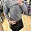 Thumbnail: Camisola de malha com gola cinza