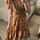 Thumbnail: Vestido seda assimétrico salmão/petróleo