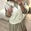 Thumbnail: Colete de malha cru com botões pérola