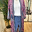 Thumbnail: Kimono comprido seda rosa/verde