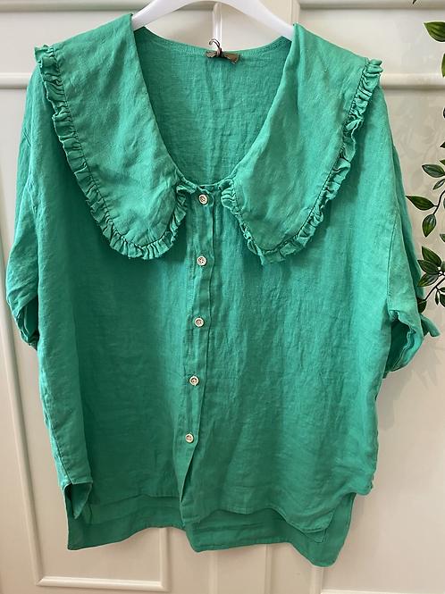 Blusa gola baby linho verde