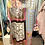 Thumbnail: Túnica/vestido cetim estampa rosa