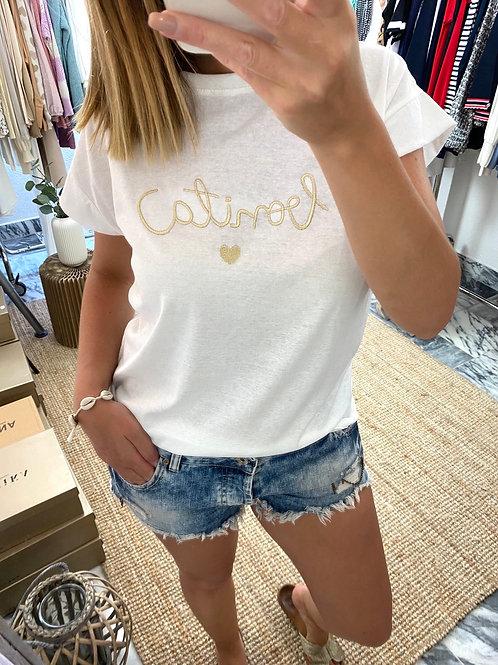 T-shirt bonita dourado