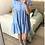 Thumbnail: Vestido linho azul c/botões