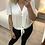Thumbnail: Blusa branca laçada Naf Naf