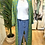 Thumbnail: Kimono comprido seda verde/azul