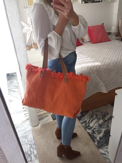 Saco grande sarja laranja