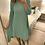 Thumbnail: Casaco comprido canelado verde