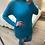 Thumbnail: Camisola gola alta com bolsos turquesa