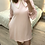 Thumbnail:  Vestido rosa com gola xadrez