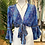 Thumbnail: Blusa bolero seda azulão