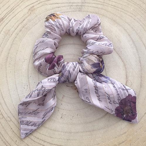 Elástico/lenço para cabelo estampa rosa