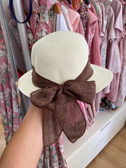 Chapéu laço castanho