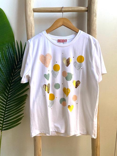 Tshirt estampa corações