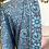 Thumbnail: Kimono seda turquesa/lavanda