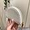Thumbnail: Porta-moedas croco branco Don Algodon
