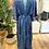 Thumbnail: Vestido seda manga larga azul/verde