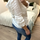 Thumbnail: Blusa branca com folhos
