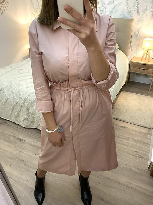 Vestido camisa rosa
