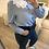 Thumbnail: Camisa azul com gola branca