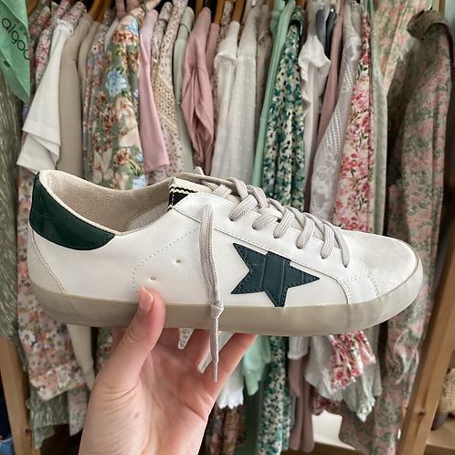 Sapatilhas brancas estrela verde