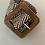 Thumbnail: Cinto elástico c/fivela quadrada preto/branco
