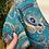 Thumbnail: Vestido estampado berloques petróleo