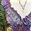 Thumbnail: Vestido seda manga curta violeta