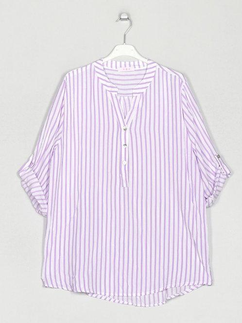 Camisa oversize riscas lilás