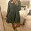 Thumbnail: Vestido de algodão com gola verde