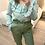 Thumbnail: Blusa estampada folhos verde